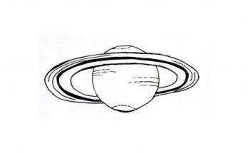 Dibujo Saturno para colorear