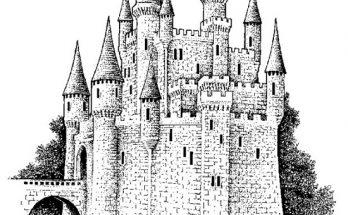 Dibujo Gran defensa medieval para colorear