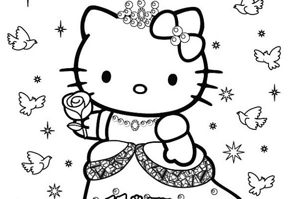Dibujo Hello Kitty princesa