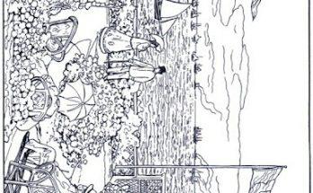Dibujo La Terraza de Sainte-Adresse de Monet para colorear