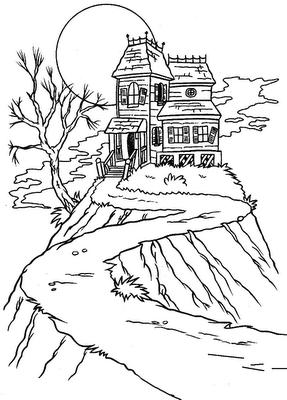 Dibujo La casa de la colina