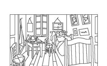 Dibujo El Dormitorio de Van Gogh para colorear