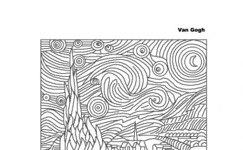 Dibujo La noche estrellada de Vincent van Gogh