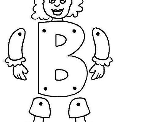 Letra B Articulada Para Recortar Y Colorear Dibujos Para