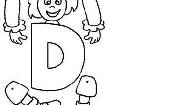 Letra D Para Recortar Archivos Dibujos Para Colorear