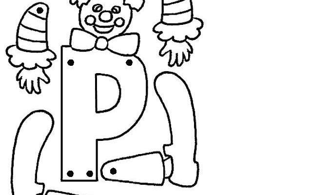 Letra P Articulada Para Recortar Y Colorear Dibujos Para Colorear
