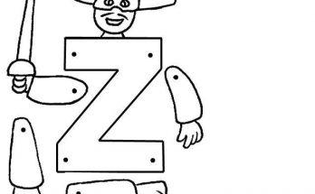 Letra Z Para Montar Archivos Dibujos Para Colorear