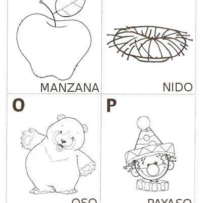 Aprende La M La N La O Y La P Dibujos Para Colorear