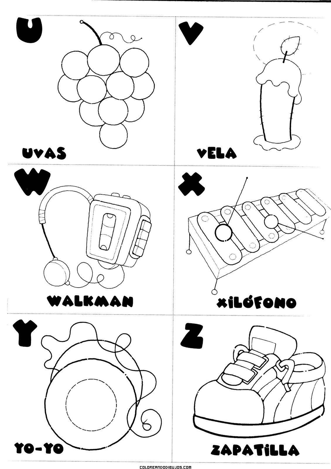 Letras U V W X Y Z Para Colorear Dibujos Para Colorear