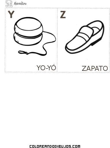 Aprende Las Letas Y Y Z Dibujos Para Colorear