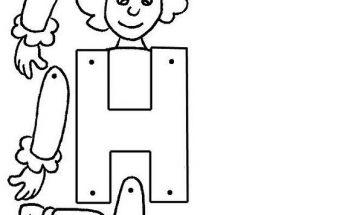 Letra H Para Imprimir Archivos Dibujos Para Colorear