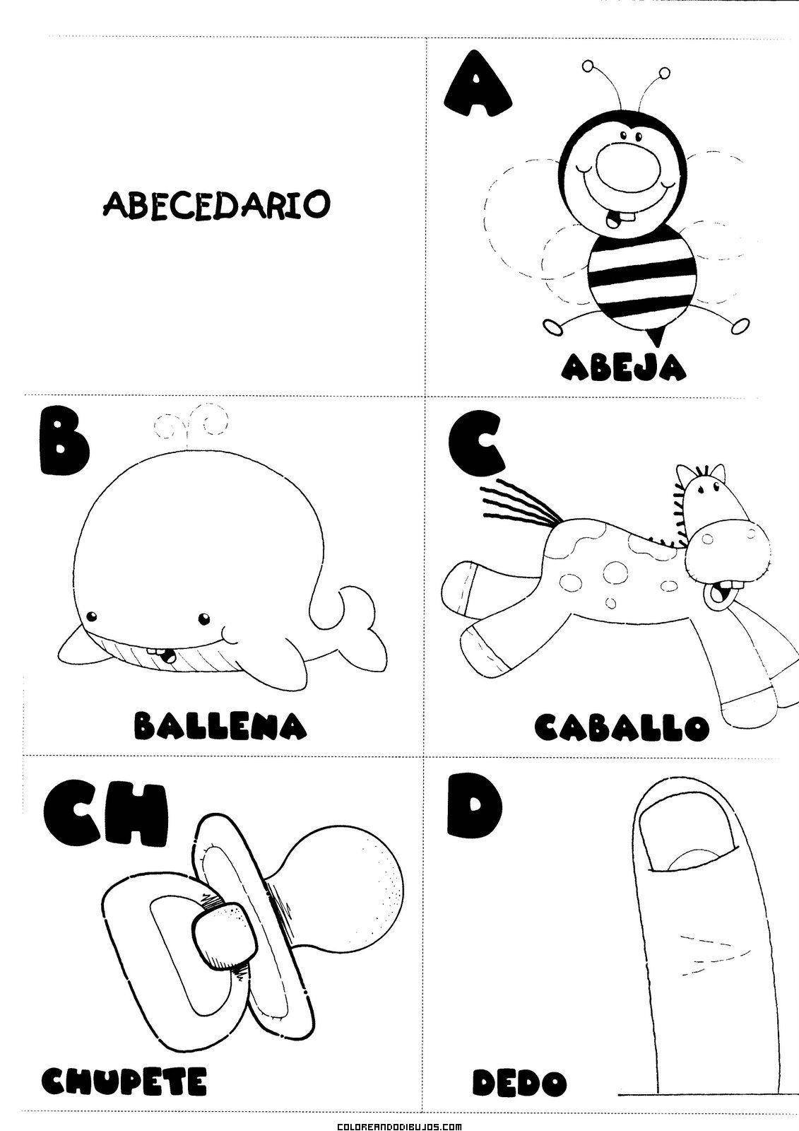 Letras A, B, C, CH, D para colorear - Dibujos para colorear