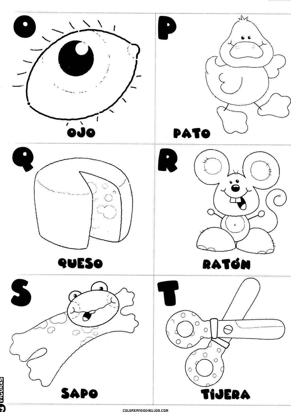 Letras O P Q R S T Para Colorear Dibujos Para Colorear