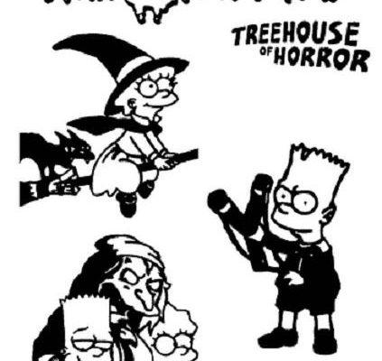 Dibujo Los Simpson celebran Halloween