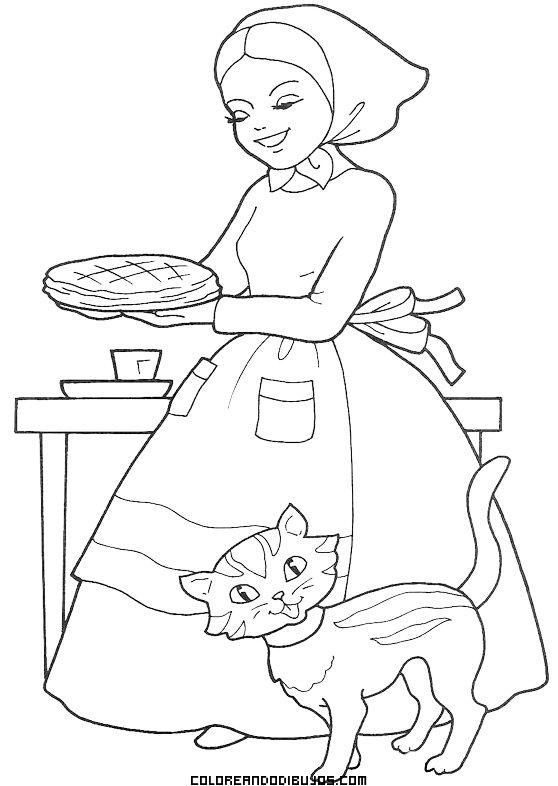 La Mamá De Caperucita Para Colorear Dibujos Para Colorear