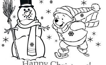 Dibujo Merry Christmas con Winnie Pooh