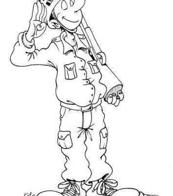 Imagenes De Soldados Animados Para Colorear