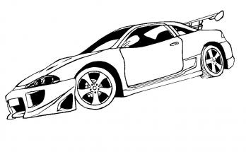 Dibujo Mitsubishi para colorear