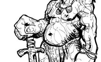 Dibujo Guerrero monstruoso