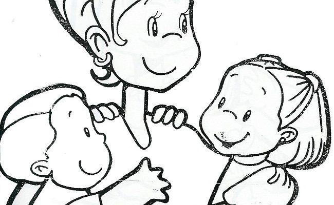 Dibujo Felicidad en el día de la madre