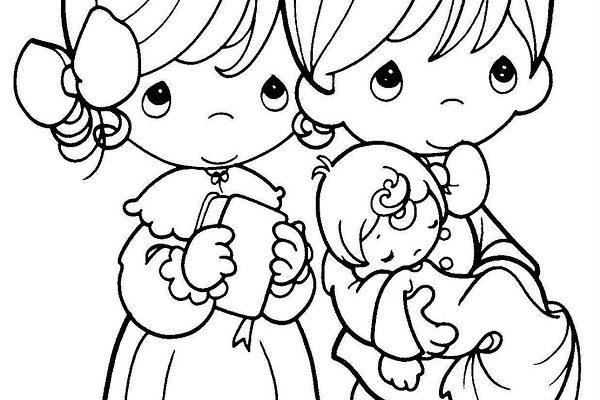 Familia Feliz Van A La Iglesia Dibujos Para Colorear