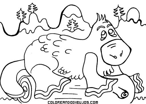 Dibujo Para Colorear De Un Ornitorrinco Dibujos Para Colorear