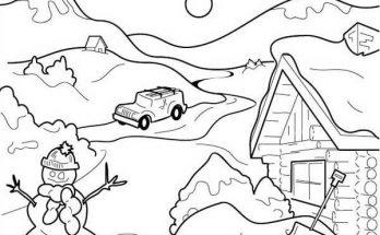 Montañas Para Pintar Archivos Dibujos Para Colorear
