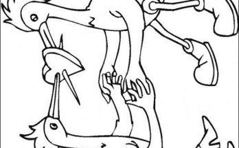 Dibujo Dibujo de pájaros enamorados