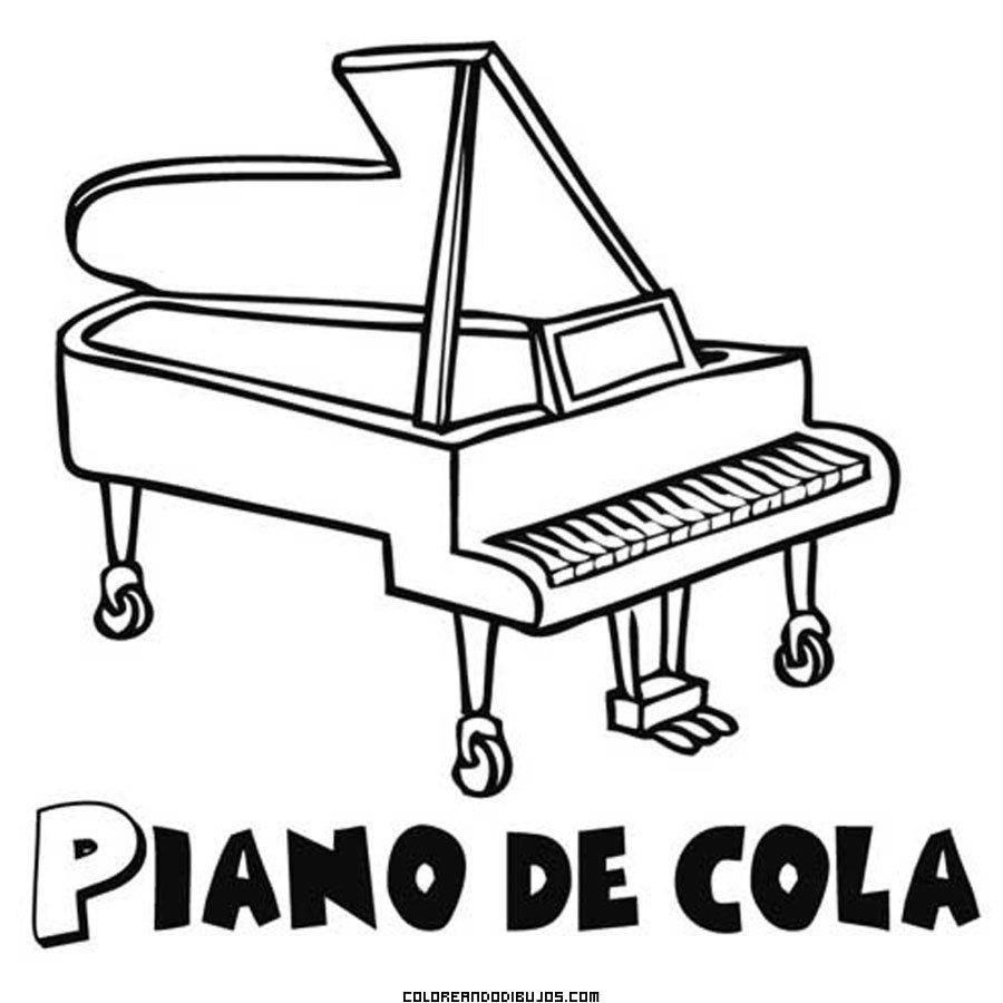 Piano De Cola Para Colorear Dibujos Para Colorear