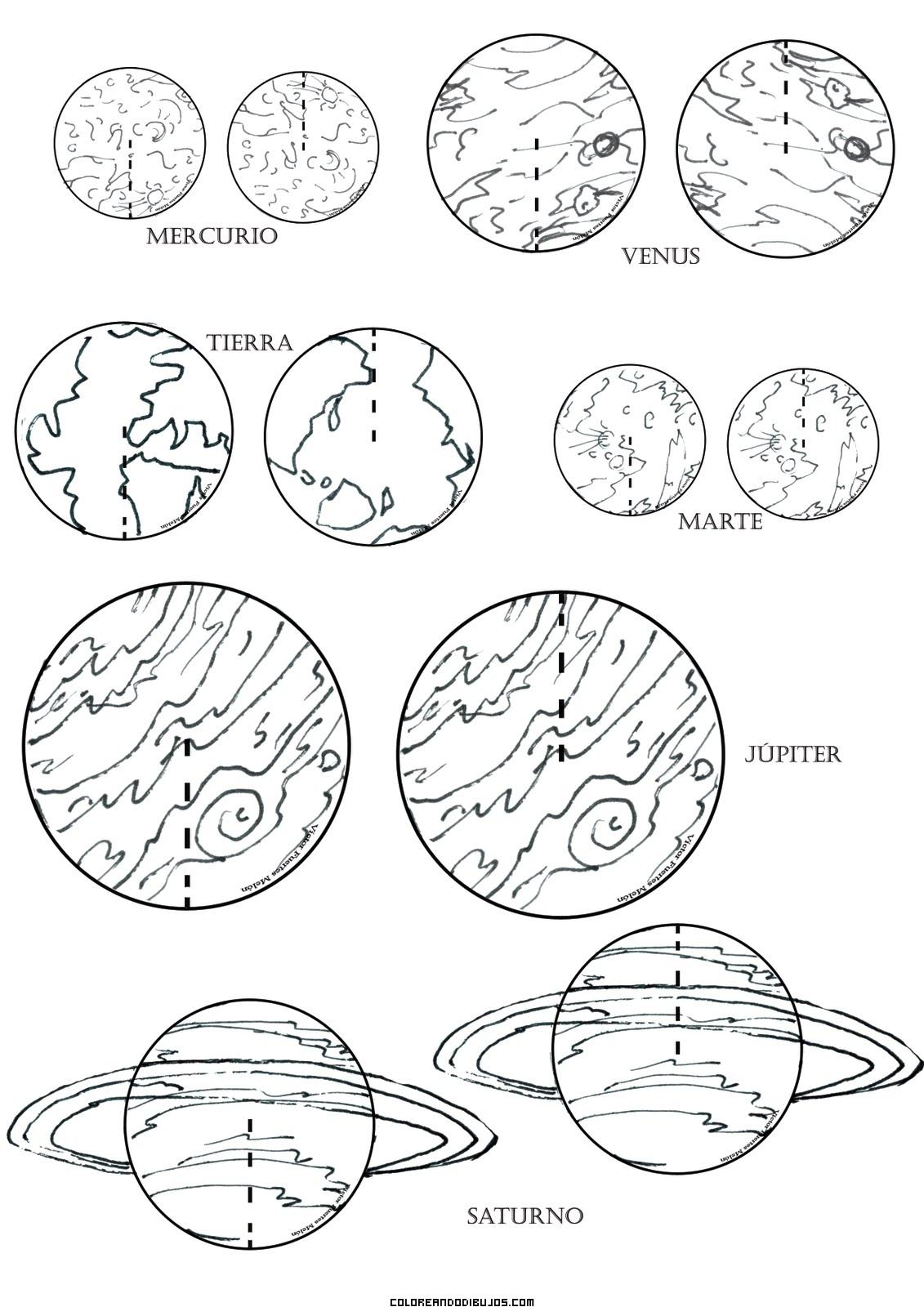 Planetas Para Colorear Dibujos Para Colorear