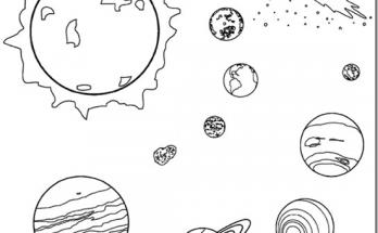 Dibujo Planetas del Universo para colorear