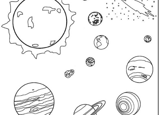 Planetas Del Universo Para Colorear Dibujos Para Colorear