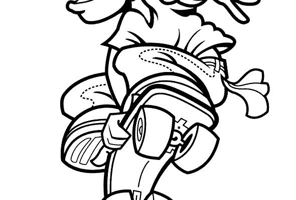 Dibujo Gran salto con el monopatín