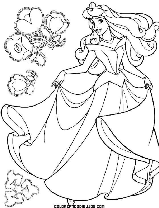 Princesas De Cuento Dibujos Para Colorear