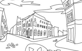 Dibujo Pueblo encantado para colorear