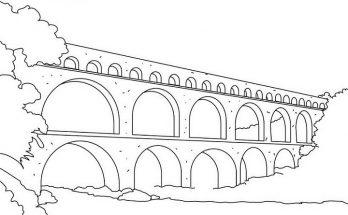 Dibujo Espectacular puente