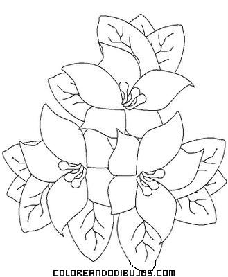 Ramo De Flores Para Colorear Dibujos Para Colorear