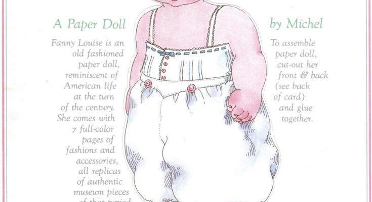 Dibujo Fanny Louise para recortar