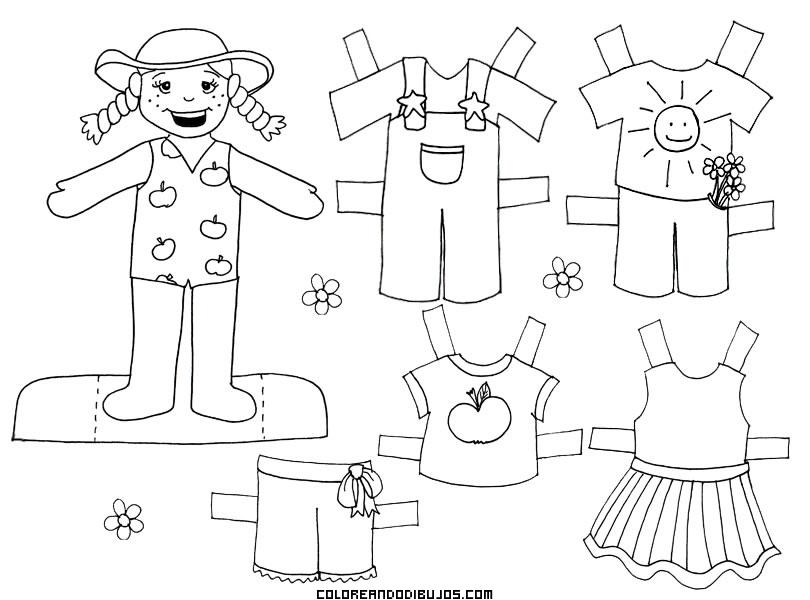 Chica Granjera Para Colorear Y Recortar Dibujos Para Colorear