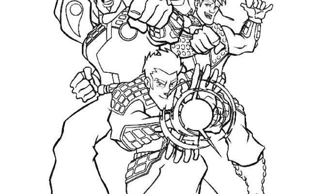 Dibujo Super Action Man para colorear