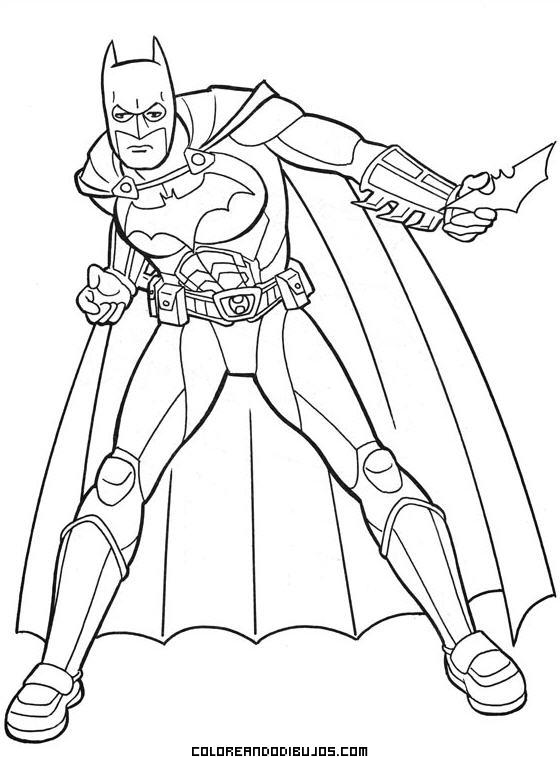 Batman En Acción Dibujos Para Colorear