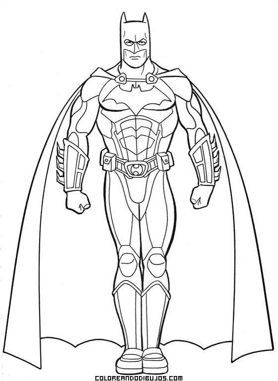 Superhéroe Batman De Marvel Dibujos Para Colorear