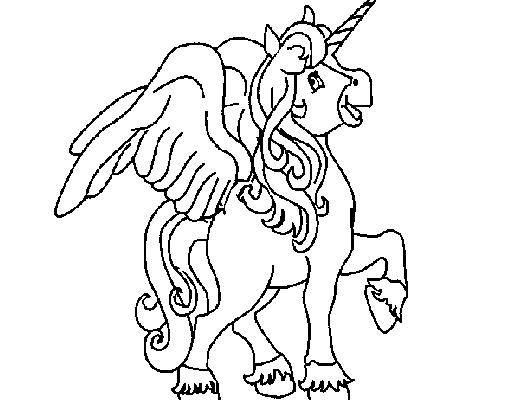 Caballo De Fantasía Alado Dibujos Para Colorear