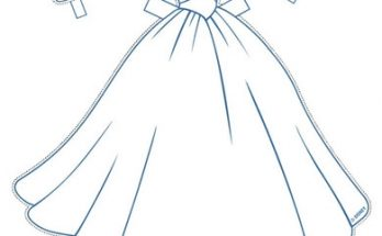 Dibujo Vestido de novia de cenicienta