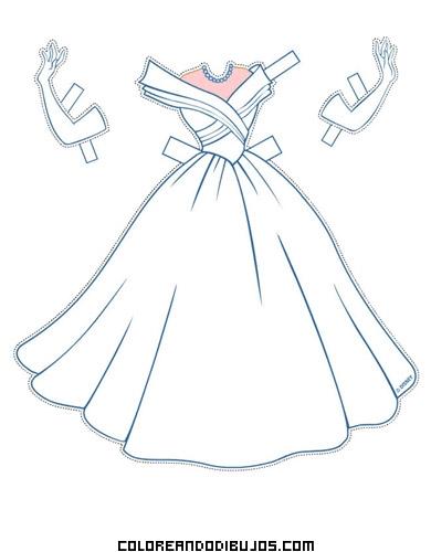 Vestido De Novia De Cenicienta Dibujos Para Colorear
