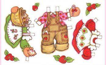 Dibujo Vestidos recortables caseros para Fresita