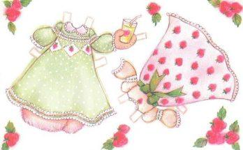 Dibujo Vestidos recortables elegantes para Fresita