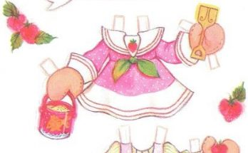 Dibujo Vestidos recortables para Fresita