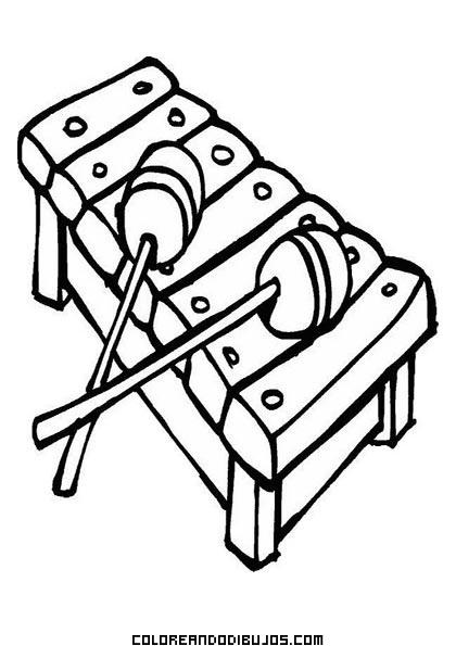 Divertido Xilófono Dibujos Para Colorear