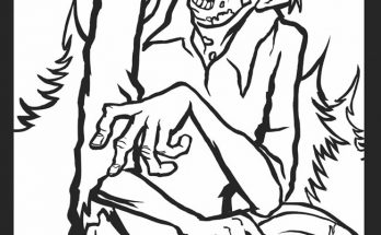 Dibujo Zombie de ultratumba para colorear